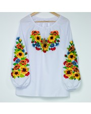 Ukrainian Embroidered Women's Shirt Vyshyvanka, Size XXL
