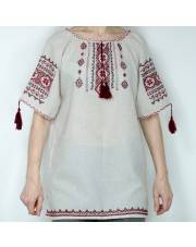 Ukrainian Embroidered Women's Shirt Vyshyvanka, Handmade, Size XL