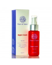 Night Cream for Oily Skin with Blue Clay, Claire de Nature