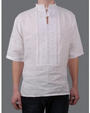 Ukrainian Embroidered Men's Shirt, Handmade, Size L