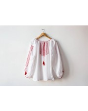 Ukrainian Embroidered Women's Shirt Vyshyvanka, Handmade, Size L