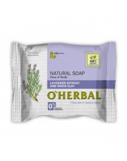 Lavender Extract & White Clay Natural Soap, O'Herbal, 100 g