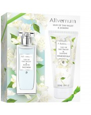 Gift Set Lily of The Valley & Jasmine, Eau de Parfum and Body Balm, Allvernum