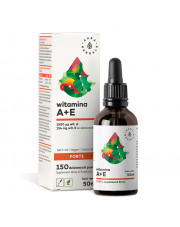 Witamina A + E Forte MCT-Oil Krople, Aura Herbals, 50ml