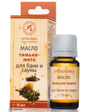 Bath and Sauna Oil Thyme & Mint, Aromatika